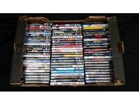box of D.V.D movies
