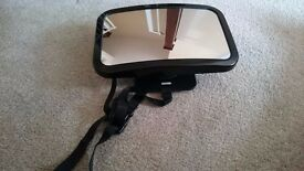 Rearview baby safe mirror for rear facing seats