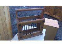 Rustic solid wood magazine rack
