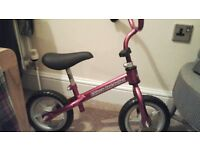 Chicco red bullet balance bike. Normally £25-35. Small scratchs on front. Good first bike