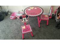 Disney Minnie Mouse Play Table & Chairs