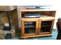 Pine television cabinet. Solid wood.