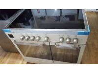 Hoover 90cm Wide Electric Range Cooker In Ivory With Ceramic Hob