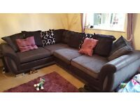 Dfs gray and black corner sofa