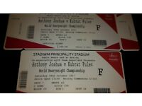 2 Anthony Joshua Cardiff tickets
