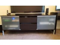 Large TV Unit 2 Drawer and Adjustable Shelves. Used IKEA Living Room Furniture