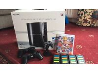 PlayStation 3 80gb, accessories and buzz quiz game with controllers