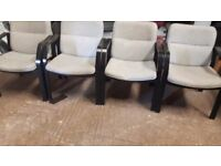 4 matching reception area chairs with armrests