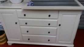 white sideboard 8 x3 as new
