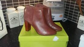 Ted Baker Leather Ankle Boots Size 6