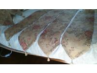"""6 TABLE/FURNITURE RUNNERS.VARIOUS SIZES..5'6"""" IS LONGEST, SEE ADS & PICS,HAVE MATCHING CURTAINS ALSO"""