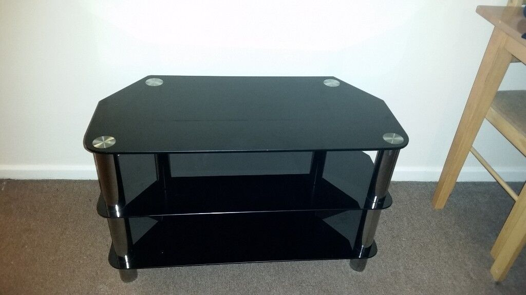 Black glass tv stand and matching coffee table