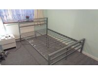 Double bed – Silver Metal Frame