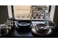 SOLD GLASGOW CHEAP PLATES, BOWLS, CUPS, GLASSES, CUTLERY