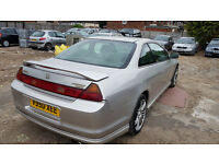 SILVER HONDA ACCORD COUPE SUNROOF ALLOYS LEATHERS HISTORY PX