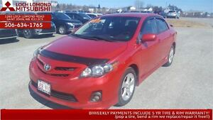 2012 Toyota Corolla S - only $120 BW!!