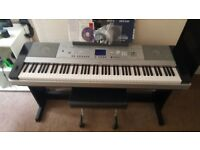 Yamaha dgx 640 digital piano 88 weighted keys
