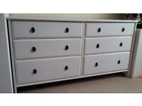 IKEA 6 drawer white chest of drawers