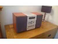 Sony CMT-GPX9DAB micro hifi with DAB radio, CD and tape player - wooden speakers