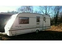1998 Bailey 4-5 berth caravan comes with awning and fitted motormover