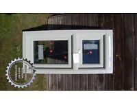 2 new wooden frame double glazed windows