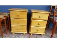 Two Pine Bedside Units - Good Condition