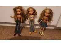 3 country Bratz dolls- Yasmin Raya Megan