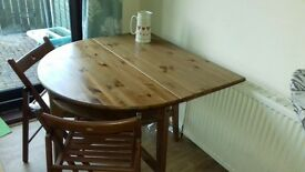 Ikea dark would oak dining table 2 seater dropleaf