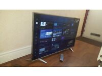 SHARP 43-inch Smart 4K UHD HDR ULTRA SLIM LED TV,built in Wifi,Freeview & FREESAT HD,Fully Working
