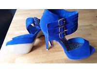 Brand new royal blue high heel shoes (size 6)