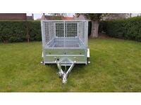 CAGE TRAILER - 8,7FT X 4,2FT MESH SIDES TRAILER £1200 inc vat BEST PRICE !!!!