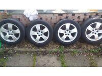 "Genuine 16"" Audi Alloys with tyres 205/55"