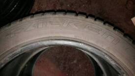 2x Falken Eurowinter HS449 M+S Winter Tyres 255/45/18 103V