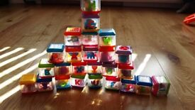 Toddler ABC Alphabet Sensory Peek a Blocks A - Z & Bag