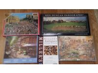 5 JIGSAW PUZZLES - ONE NEVER OPENED STILL IN WRAPPER