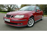 YEAR MOT + AUTOMATIC + SAAB 9-3 SPORT SALOON 1.8T LINEAR + RED + HPI CLEAN + CRUISE CONTROL + 2 KEYS