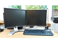 "TWO 19"" Dell LCD monitors - screens for desktop, laptop"