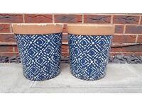 Ceramic Garden Pots x 2 - used