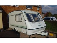 ELDDIS CARAVAN WHISPER 2 BERTH WITH AWNING GOOD CONDITION