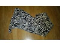 dolce & gabbana vintage zebra print trousers 30 waist