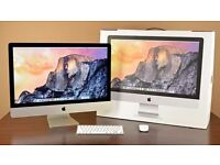 "2.7ghz Quad Core i5 27"" Apple iMac 8gb Ram 1TB HDD Final Cut Pro X Adobe CC Premiere Davinci Resolve"