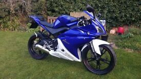 Yamaha YZF R125 , 12 months Mot, excellent condition, free delivery & warranty