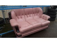 pink 3 seater in good condition