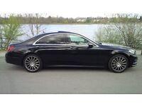 Luxury Mercedes S Class chauffeur driven