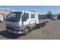 Mitsubishi canter recovery truck 2001 flat bed, tilt and slide bed, hydraulic winch, straps, spec