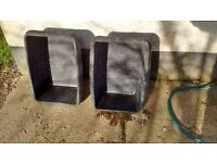 Two used rubber troughs ,suitable for food or water,field or stable.