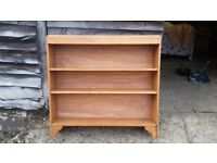 Large pine bookcase with back
