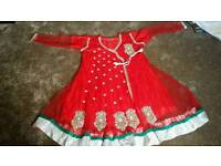 Red wedding party dress
