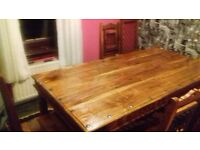 OAK TABLE AND 66 CHAIRS GOOD CONDITION