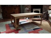Ercol light oak Coffee table from John Lewis with magazine rack - about 2 years old